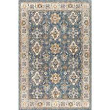 fairview navy 9 ft x 13 ft area rug navy ivory brown