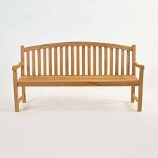 teak outdoor bench. Bowback 3-Seater Teak Outdoor Bench-1457. \u201c Bench