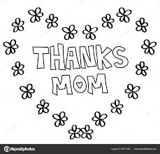 Bedankt Moeder Hart Kleurplaat Stockvector Keeweegirl 182771362