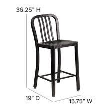 flash furniture metal outdoor bar stool