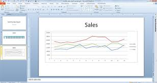 How To Link Excel Data To Powerpoint Chart Dynamically Link Charts Tables In Excel 2010 With Powerpoint