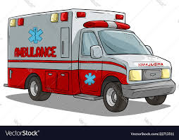 Cartoon ambulance emergency car or truck Vector Image