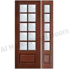 glass wood door hpd176 panel doors al habib throughout designs plans 8