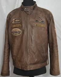 superior new york men s cafe racer motorcycle leather jacket with patches