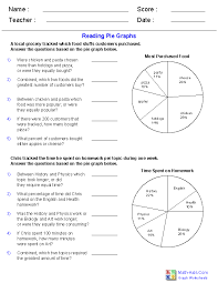 Reading Pie Graphs Worksheets Line Graph Worksheets