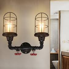 steampunk lighting diy black pipe wall sconce or ceiling