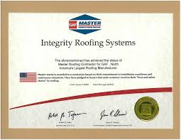 Roofing Certifications Roofing Contractor Jacksonville Licensed