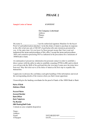 Sample Letter Of Intent In Word And Pdf Formats