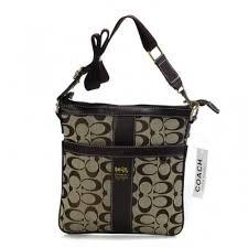 Coach Legacy Swingpack In Signature Medium Beige Crossbody Bags AWP