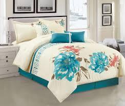 artisan fl comforter set stripe bed in a bag beige