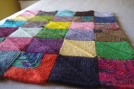 How To Knit A Rug Knitting Blankets And A Pattern For Mitred Squares Knit As You Go