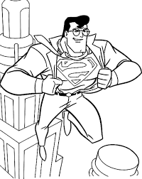 Superman Kleurplaat Coloring Home