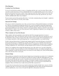 First Resume Time Tips Examples Australia Job Objective My
