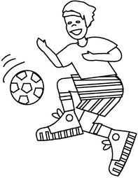 Small Picture A Boy with Perfect Ball Handling on Soccer Game Coloring Page