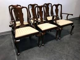 queen anne dining chairs awesome thomasville cherry queen anne style dining captain s arm chairs of