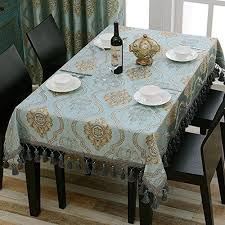 european style tablecloth coffee table