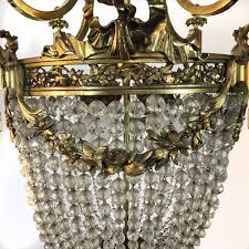 antique french louis xvi sack of pearls bronze chandelier