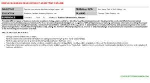Business Development Assistant Resume Cover Letter Cv Letters