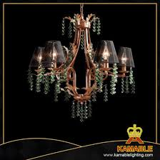 original country style green crystal wood pendant lamp cos9233