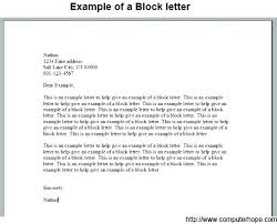 Letter Or Recommendation Format Block Style Letter Format Template Margins Business Vraccelerator Co