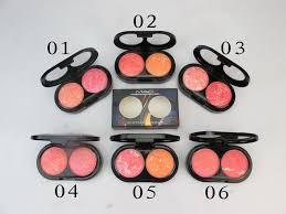 mac sheertone shimmer blush fard a joues makeup bronzer powder 2 color set