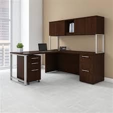 series corner desk. Bush 400 Series Corner Desk With Hutch