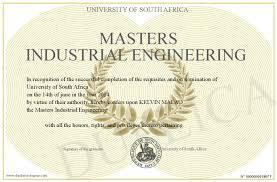 Masters Industrial Engineering