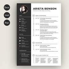 Resume Designs Cool Clean Cv Resume Cover Letter Template Template And Infographic