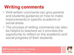 Some helpful words for when you re writing report cards
