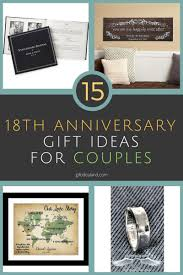 15 great 18th wedding anniversary gift ideas for couples