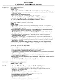 Stewarding Manager Resume Samples Velvet Jobs