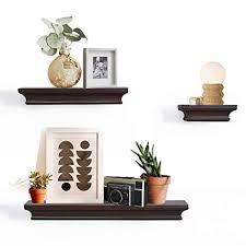 Dark Brown Floating Shelves Best Amazon AHDECOR Floating Shelves Ledge Shelf Dark Brown 32