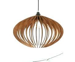 wooden orb lighting