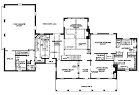 Garrison Colonial Home Plan D    House Plans and MoreFirst Floor