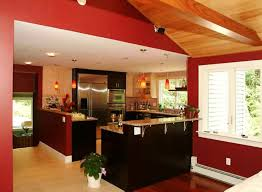 kitchen color ideas red. Red Wall Accent For Modern Kitchen Colour Combinations Using Stylish Cabinet Color Ideas I