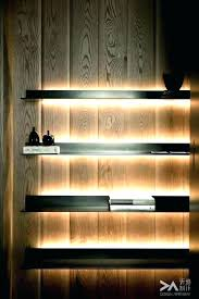Floating Shelves With Built In Led Lights Classy Floating Shelves With Led Lights Shelf With Lights Underneath