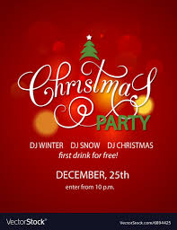 Christmas Design Template Christmas Party Background Design Template Vector Image