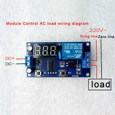 time delay relay dc 12v digital display trigger cycle time delay relay module board bs