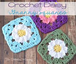 Easy Crochet Granny Squares Free Patterns Best Crochet Daisy Granny Squares The Stitchin Mommy