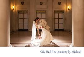 creative wedding photography at city hall with silhouette - Wedding ...