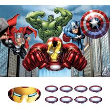 Avengers Party Decorations Avengers Kids Birthday Party Supplies Game Poster And Mask Kids