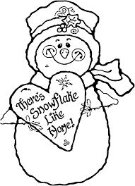 Small Picture Coloring Pages Of Snowman Coloring Home