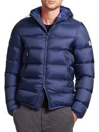 Lyst - Moncler Chauvon Hooded Down Jacket in Blue for Men