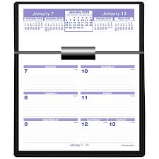 Office Depot At A Glance Flip A Week Weekly Desk Calendar And Base