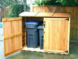 outdoor garbage storage outside trash can holder half moon trash can outside garbage can storage shed