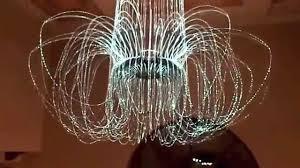 armonia led fiber optic chandelier madlab s latest custom lighting