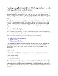 essay writing critically analyse critical analysis template