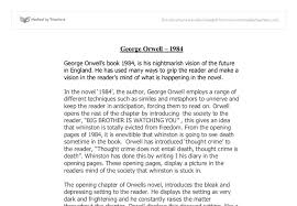 shocking literary techniques george orwell s gcse english  document image preview
