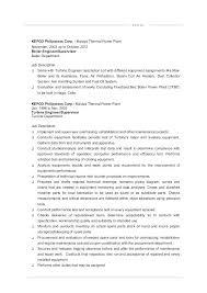 Power Plant Mechanic Sample Resume Delectable Electrical Maintenance Resume Engineer Example Cv Mmventuresco