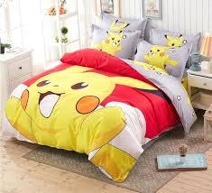 pokemon bed set cartoon bedding set print duvet cover bed sheet pillow cases comforter set for kids in bedding sets from home garden on pokemon bed set